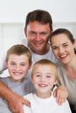 Familia alegre Foto de archivo libre de regalías
