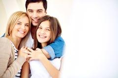 Familia alegre Imagen de archivo libre de regalías