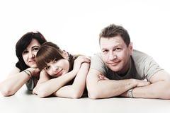 Familia alegre Imágenes de archivo libres de regalías