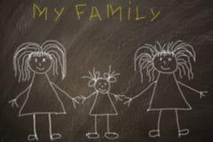 Familia alegre feliz fotos de archivo