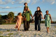 Familia americana diversa feliz Foto de archivo libre de regalías