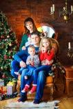 Familia antes de días de fiesta Imagen de archivo libre de regalías