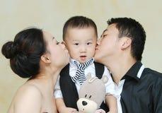 Familia asiática Imágenes de archivo libres de regalías