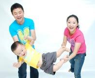 Familia asiática Fotos de archivo