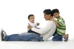 Familia asiática Fotografía de archivo