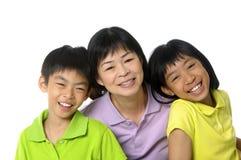 Familia asiática Foto de archivo libre de regalías