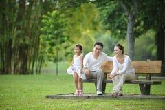Familia asiática feliz Fotografía de archivo
