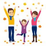 Familia Autumn Fun Foto de archivo libre de regalías