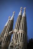 Familia Barcelona de Sagrada del La Imagen de archivo