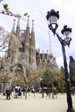 Familia Barcelona España de Sagrada Foto de archivo libre de regalías