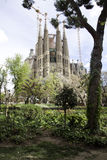 Familia Barcelona España de Sagrada Imagenes de archivo
