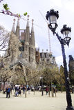 Familia Barcelona spain de Sagrada Foto de Stock Royalty Free