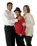 Familia Biracial imagen de archivo libre de regalías