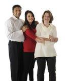 Familia Biracial feliz de tres foto de archivo libre de regalías