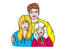 Familia cómoda stock de ilustración