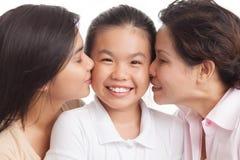 Familia cariñosa Foto de archivo libre de regalías