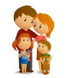 Familia cariñosa feliz libre illustration