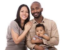 Familia casual étnica Imagen de archivo libre de regalías