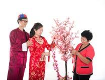 Familia china del Año Nuevo Imagen de archivo