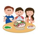 Familia, comiendo Imagen de archivo