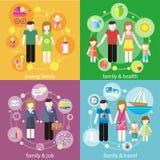 Familia con concepto de la gente de los niños de los niños stock de ilustración