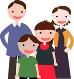 Familia con dos cabritos stock de ilustración