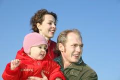 Familia con el bebé imagen de archivo libre de regalías