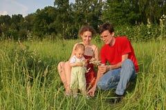Familia con el bebé Fotografía de archivo libre de regalías