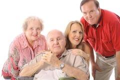 Familia con el padre de la desventaja Foto de archivo libre de regalías