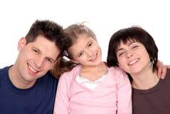 Familia con la hija Imágenes de archivo libres de regalías