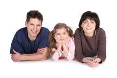 Familia con la hija Imagenes de archivo