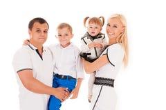 Familia con los niños Fotografía de archivo libre de regalías