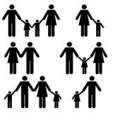 Familia con los padres y los niños Fotos de archivo
