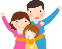 Familia con una hija stock de ilustración
