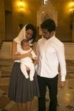 Familia cristiana feliz en la C apostólica armenia Imagen de archivo libre de regalías