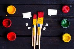 Familia de cepillos Imagen de archivo libre de regalías