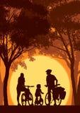 Familia de ciclo ilustración del vector