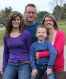 Familia de cuatro miembros Fotos de archivo libres de regalías