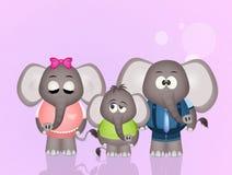 Familia de elefantes Fotos de archivo libres de regalías