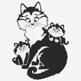 Familia de gato Foto de archivo libre de regalías