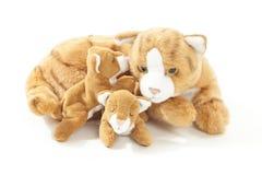 Familia de gato de los peluches Imágenes de archivo libres de regalías