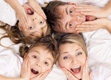 Familia de la diversión Fotografía de archivo libre de regalías