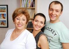 Familia de la felicidad II. Imagen de archivo