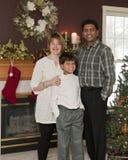 Familia de la feliz Navidad fotos de archivo