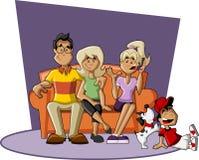 Familia de la historieta Foto de archivo libre de regalías