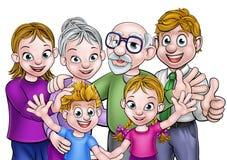 Familia de la historieta Fotos de archivo