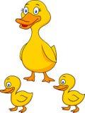 Familia de la historieta del pato Imagen de archivo libre de regalías