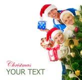 Familia de la Navidad Imagenes de archivo