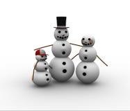 Familia de la Navidad ilustración del vector