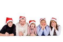 Familia de la Navidad imágenes de archivo libres de regalías